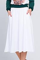 Женская юбка миди с карманами Брэнди белая