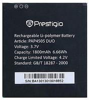 Батарея (акб, аккумулятор) для Prestigio PAP4505, 1800 mAh, оригинал