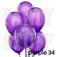 Воздушные шарики Gemar АМ50 металлик фиолетовый, 5'(13 см) 100 шт, фото 1