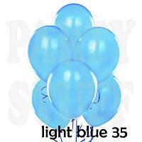 Воздушные шарики Gemar АМ50 металлик светло-голубой  5' (13 см) 100 шт