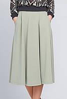 Женская юбка миди с карманами Брэнди оливковая