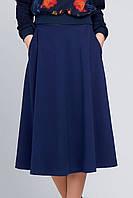 Женская юбка миди с карманами Брэнди синяя