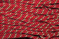 Канат декоративный ПЭ 10мм (50м) красный+золото , фото 1