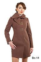Женское модное пальто средней длины Вс-14 демисезонное