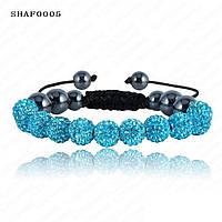 Браслет женский Шамбала SHAF0005 turquoise (бирюзовый)