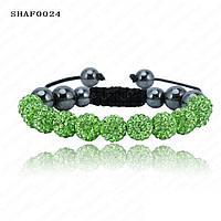 Браслет женский Шамбала SHAF0024 green (зеленый)