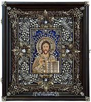 Иконы в серебряных окладах. Икона Господь Вседержитель 26*23*3,5 cм, фото 1