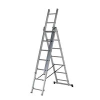 Elkop 7,27м лестница трехсекционная алюминиевая профессиональная (VHR H 3x12)