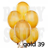Воздушные шарики Gemar АМ50 металлик золотой 5' (13 см) 100 шт