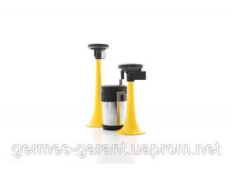 Сигнал дудка з компресором 2шт жовтий 165 / 215мм 12V