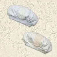 Берет нарядный Янгол Интерлок для мальчика цвет белый, молочный размер 74 Бетис