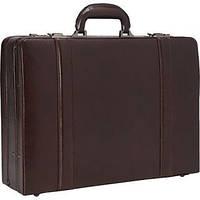 Кожаный атташе кейс с расширением Mancini Leather Goods, фото 1