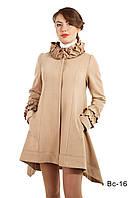 Модное женское пальто средней длины Вс-16 демисезонное