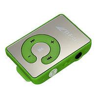 Зеркальный MP3 плеер Клипса + Наушники +USB переходник green (зеленый)