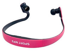 Наушники Sport MP3 Run плеер + Fm pink (розовый)