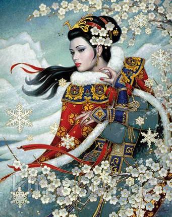 Набор алмазной вышивки Восхитительная японка 40 х 50 см (арт. FS394)