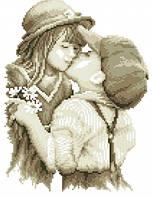 """Картина алмазами """"Первый поцелуй"""" квадратные камни"""