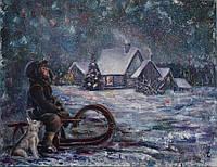 «Рождественская ночь» картина маслом