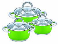 Набор кастрюль Barton Steel BS 6606 Green 6 предметов