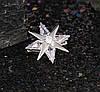 Брошь Северная звезда, родированная, фото 3