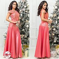 Роскошное платье с вышивкой 220 (925)