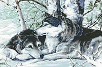 """Набор для алмазной мозаики """"Пара волков"""""""