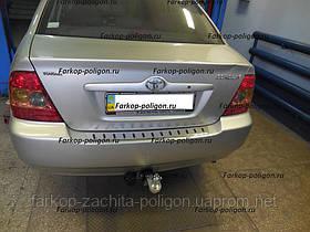 Накладка на задний бампер Toyota Corolla c 2007 г.