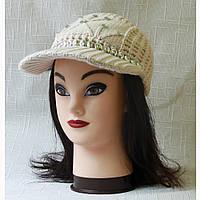 Женская кепка бежевая без верха