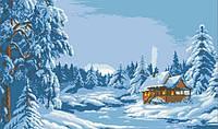 "Картина ""Зимний лес"" алмазная техника вышивки"