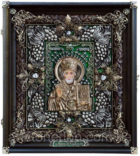 Иконы ювелирные. Икона ювелирная Святой Николай Чудотворец