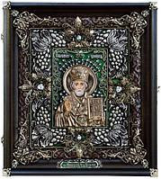 Иконы ювелирные. Икона ювелирная Святой Николай Чудотворец, фото 1