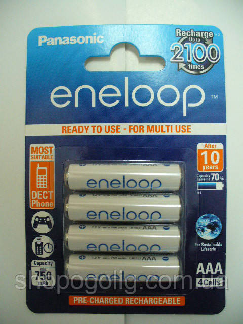 Panasonic ENELOOP 750mAh ААА(NI-MH)