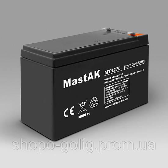 MASTAK MT1270 Герметичный свинцово-кислотный аккумулятор VRLA/SLA - SHOPOGOLIG интернет магазин  в Киевской области