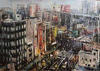«Огни большого города» картина маслом