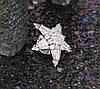 Брошь родированная,Звёздочка с цирконием, фото 4