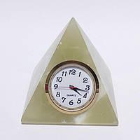 Пирамида с часами из оникса ( 7 см)