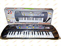 Пианино синтезатор детский, Микрофон. MQ 031 FM/  46*17*5см