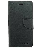 Чехол книжка для Lenovo A536 боковой с отсеком для визиток, Mercury GOOSPERY Черный