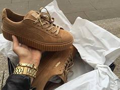 Женские кроссовки Puma Rihanna Suede Creeper (Реплика)