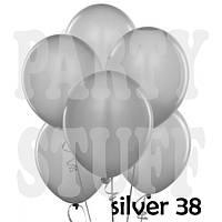 Надувные шарики Gemar АМ50 Серебристый металлик,  5' (13 см) 100 шт