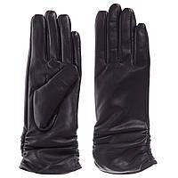 Перчатки женские (черные, кожаные, качественные, стильные)
