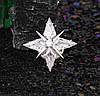 Брошь Звезда с цирконием, родированная, фото 3