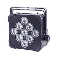 Аккумуляторный радио DMX прожектор POWER light LED PAR 9415B (RGBWA), фото 1