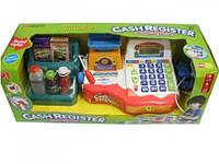 Детский кассовый аппарат Play Smart , калькулятор, микрофон, продукты