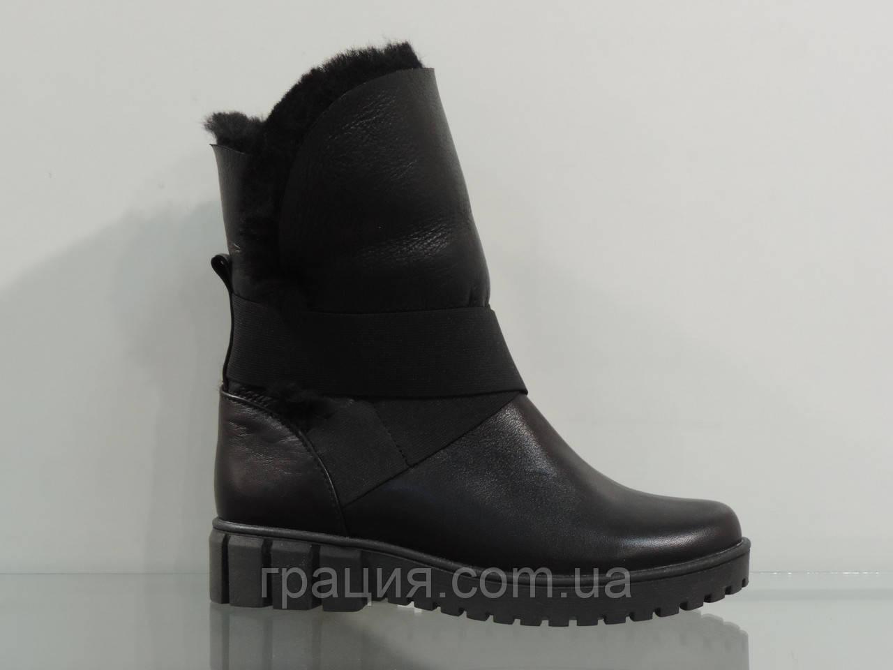 Модні молодіжні черевики шкіряні