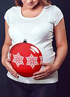 """Женская футболка """"Ёлочный шарик"""""""