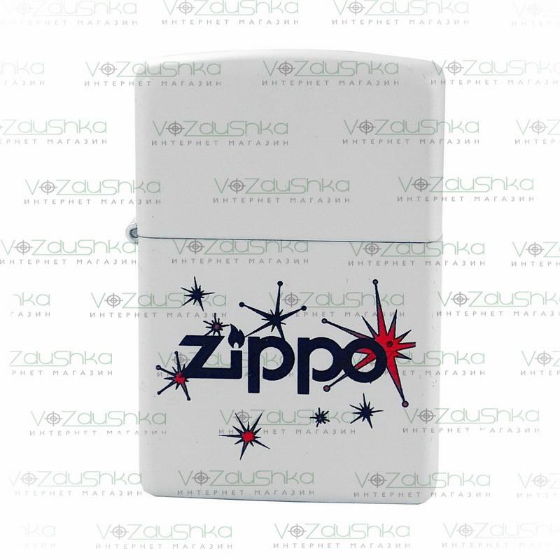 Бензиновая зажигалка Zippo 28557  Vintage Stars White Matte