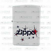 Бензиновая зажигалка Zippo 28557  Vintage Stars White Matte, фото 1