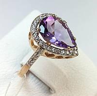 Кольцо с аметистом золото 585 проба