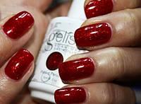 Гель-лак Gelish Harmony / 04208 Good Gossip (рубиново-красный с насыщенными ярко-красными блестками) 9 мл